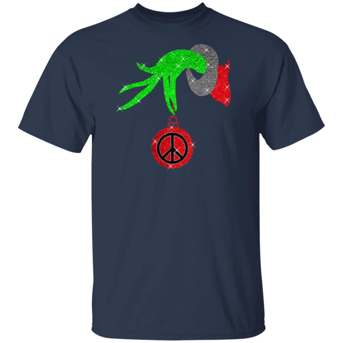 Christmas The Grinch Hand Holding Hippie Ornament Shirt